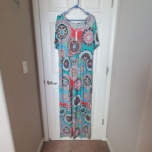 A-line dress with pockets
